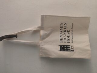 Tote bag with BFH logo on