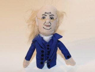 Benjamin Franklin finger puppet