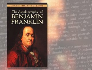 Book cover of The Autobiography of Benjamin Franklin
