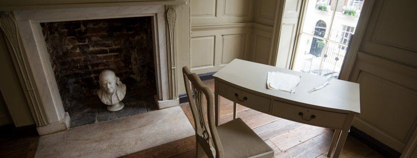 Franklin's desk in parlour