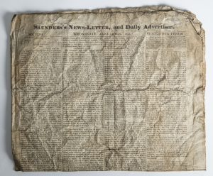 Newspaper found in chimney