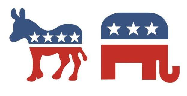 Democrats and Republicans Abroad logos