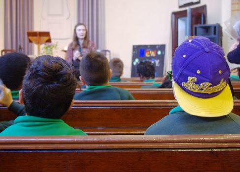 Children listening to a talk