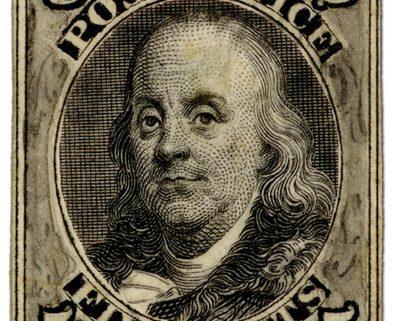 Stamp of Benjamin Franklin