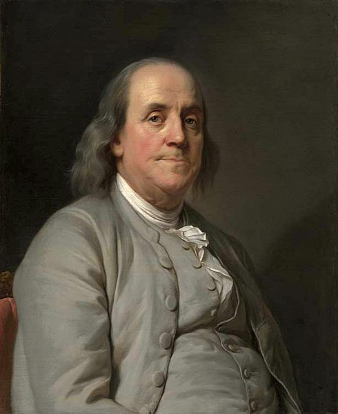 A portrait of Benjamin Franklin by Duplessis 1778