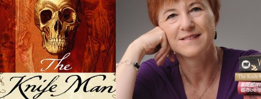 The Knife Man book cover beside author photo of Wendy Moore