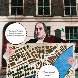 Benjamin Franklin House is now on Bloomberg Connects! Download today! on illustration of Benjamin Franklin