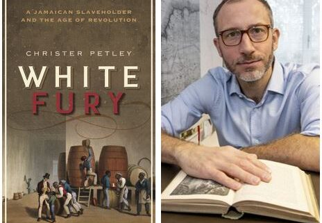 White Fury book cover beside Christer Petley author photo